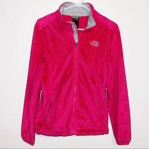 The North Face Hot Pink Fleece Fur Jacket coat